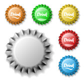 Bottle cap set Stock Photos