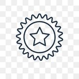 Bottle cap vector icon isolated on transparent background, linea vector illustration