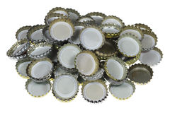 Bottle Caps. Must be removed to open bottles stock photo