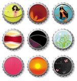 Bottle caps 3- vector set Stock Photos