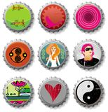 Bottle caps 4- vector set Royalty Free Stock Image