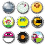 Bottle caps 9 - vector set Stock Photo