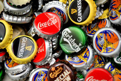 Bottle caps Stock Photos