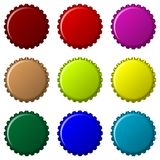 Bottle caps in colors Stock Photography