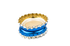 Bottle caps isolated Stock Images