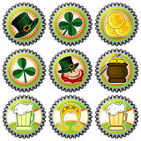 Bottle caps for Saint Patrick's Day Stock Photo