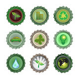 Bottle caps set-enviroment royalty free illustration