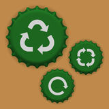 Bottle caps vector. Vector illustration of bottle caps Royalty Free Stock Photography