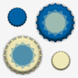 Bottle caps vector Royalty Free Stock Images