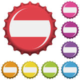 Bottle caps vector Stock Photography