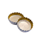 Bottle caps  on white Royalty Free Stock Photography