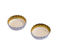Bottle caps  on white Royalty Free Stock Photos