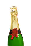 Bottle of champagne. Isolated on white Stock Photos