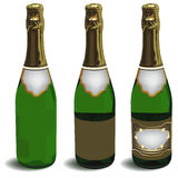 The bottle of champagne Royalty Free Stock Photos