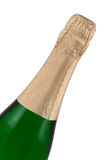 Bottle of a champagne. Isolated on white, clipping path included Royalty Free Stock Photo