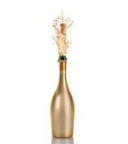 bottle champagne Arkivfoton