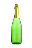 Bottle of champagne. Isolated over white background Stock Photos