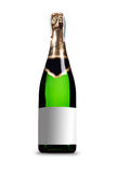 Bottle of champagne. Glass bottle of champagne isolated at white background Stock Images