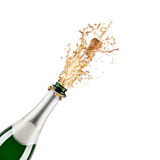Bottle of champagne. Beautiful picture of a bottle of champagne Stock Image