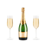 Bottle of champagne Stock Photos