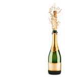 Bottle of champagne Royalty Free Stock Photography