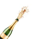 Bottle of champagne. Beautiful picture of a bottle of champagne Stock Photography