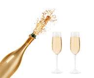 Bottle of champagne. Beautiful picture of a bottle of champagne Royalty Free Stock Photos