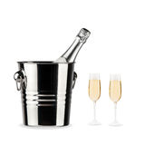 Bottle of champagne Royalty Free Stock Photo