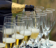 Bottle champagne Royalty Free Stock Image