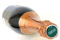 A bottle of champagne royalty free stock images