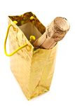 Bottle of a champagne in celebratory packing Stock Photography