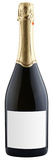 Bottle of champagne. Closed bottle of champagne isolated on white background, clipping paths Stock Images
