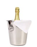 Bottle of champagne in cooler. Royalty Free Stock Photography