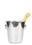 Bottle of champagne in cooler Stock Photos