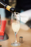 Bottle of champagne with glass Royalty Free Stock Photography