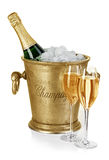 Bottle of champagne  in ice bucket Stock Photography