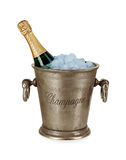 Bottle of champagne  in ice bucket Stock Photos