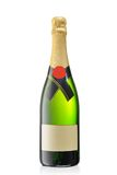 Bottle of champagne. Isolated on white Royalty Free Stock Image