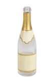 Bottle of champagne. Isolated on white background Stock Photos