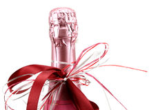 Bottle of champagne. Isolated on a white background Stock Images