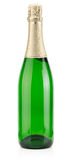 Bottle of champagne isolated on the white background Royalty Free Stock Photography