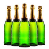 Bottle of champagne. Isolated on white background Royalty Free Stock Images