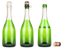 Bottle of champagne isolated Royalty Free Stock Images
