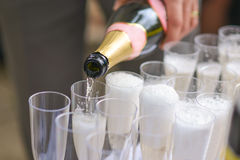 Bottle champagne Stock Image