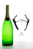 Bottle of champagne Royalty Free Stock Images