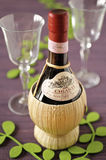 Bottle of Chianti from Certaldo Royalty Free Stock Images