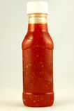 Bottle of Chili sauce Royalty Free Stock Image