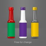 Bottle chili sauce vector Royalty Free Stock Images