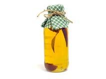Bottle of chilli oil Stock Image