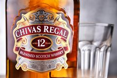 Bottle of Chivas Regal 12 blended Scotch whisky Stock Photography